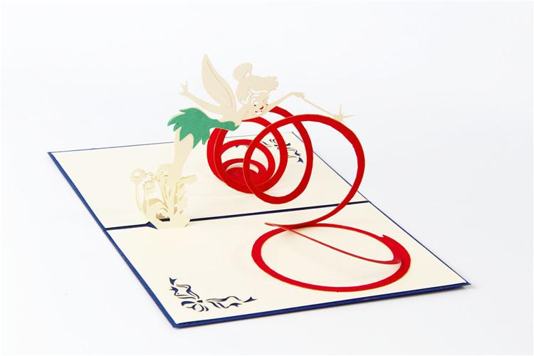 创意立体贺卡 魔法仙女 中秋节节日祝福纸雕礼品卡片